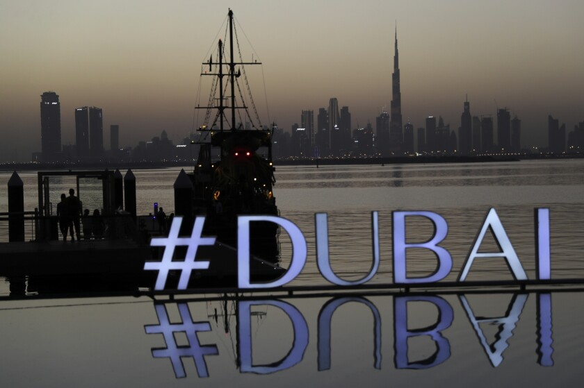 Foto tomada el 29 de enero del 2021 del panorama urbano en Dubái en los Emiratos Árabes Unidos (Foto AP/Kamran Jebreili, File)