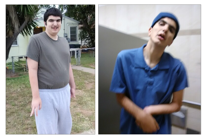 Two photos of William Alcantara, a 24-year-old man with autism who died in December, show he became thin under guardianship.