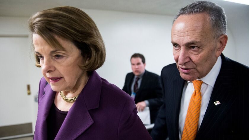 """The Judiciary Committee's Sen. Dianne Feinstein (D-Calif.) and Senate Minority Leader Charles E. Schumer (D-N.Y.) agree that """"the effect of this Supreme Court nomination on women's rights can't be understated."""""""