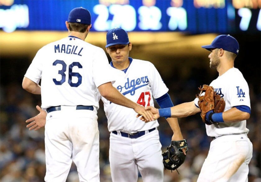 Dodgers like potential in young pitcher Matt Magill