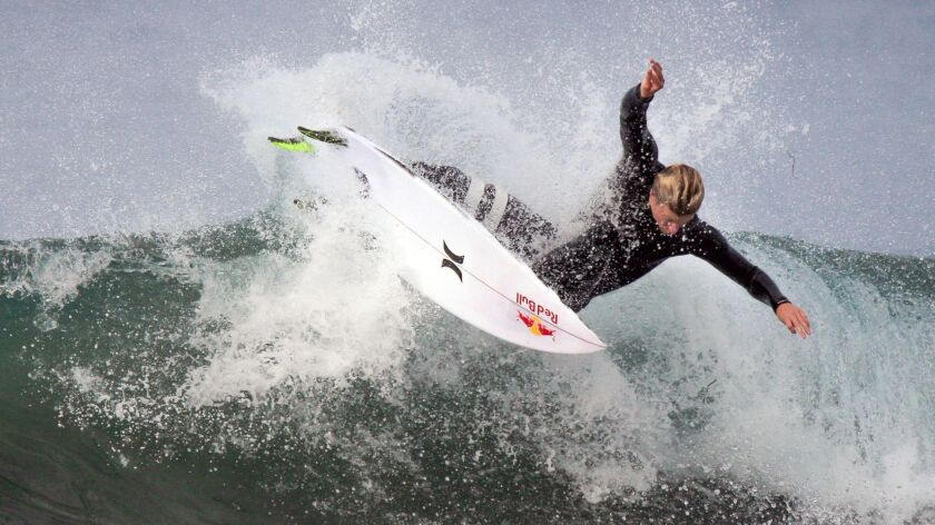At age 24, San Clemente's Kolohe Andino is in his seventh season on the World Surf League's Championship Tour. He finished No. 7 in the world last year.