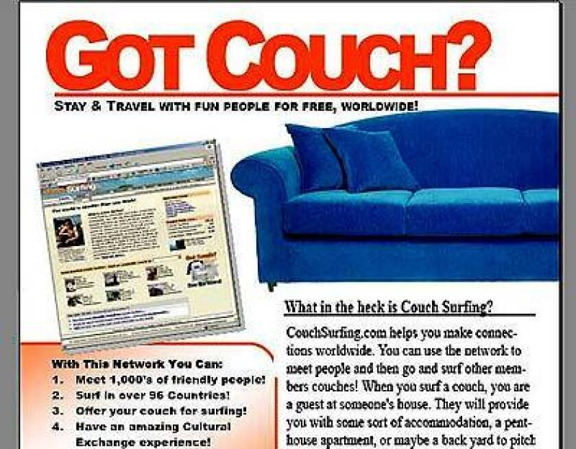 A website links couchsurfers and couch owners. But this and other hotel alternatives aren't for everyone.