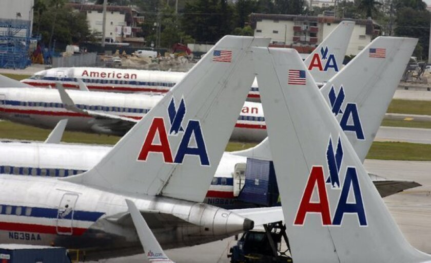 American Airlines allows fliers who pack lightly to board early
