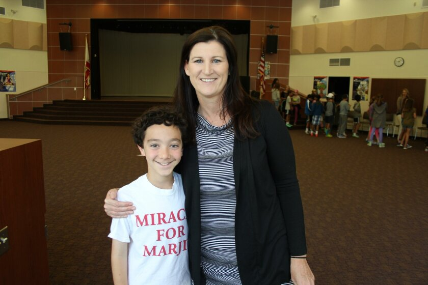 Solana Pacific fifth grader Cole Spector and teacher Kelly Monahan are doing their part to raise awareness for ALS.