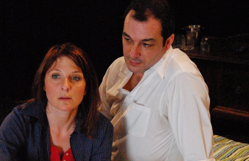 """Erika Beth Phillips and Manny Fernandes in the Mo`olelo production of """"Extraordinary Chambers."""""""