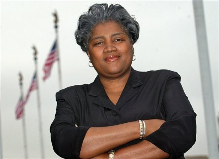 FILE - in this March 28, 2003 file photo, Donna Brazile poses in Washington. (AP Photo/Gerald Herbert, File)