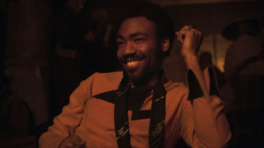 "Donald Glover as Lando Calrissian in a scene from ""Solo: A Star Wars Story."""