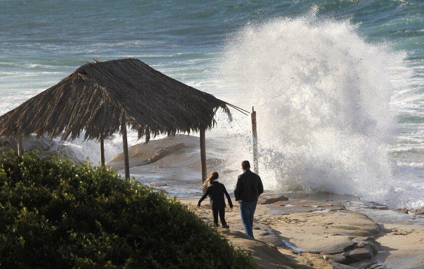Big waves and rainy weather can be expected during an El Nino year. - John Gastaldo