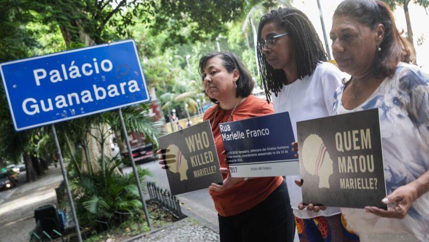 Amnesty International ask for justice in case Marielle Franco, Rio De Janeiro, Brazil - 13 Mar 2019