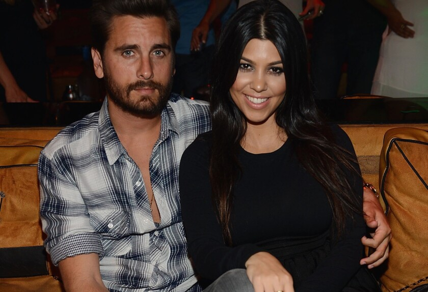 Scott Disick helped his girlfriend Kourtney Kardashian celebrate her 36th birthday in Las Vegas.