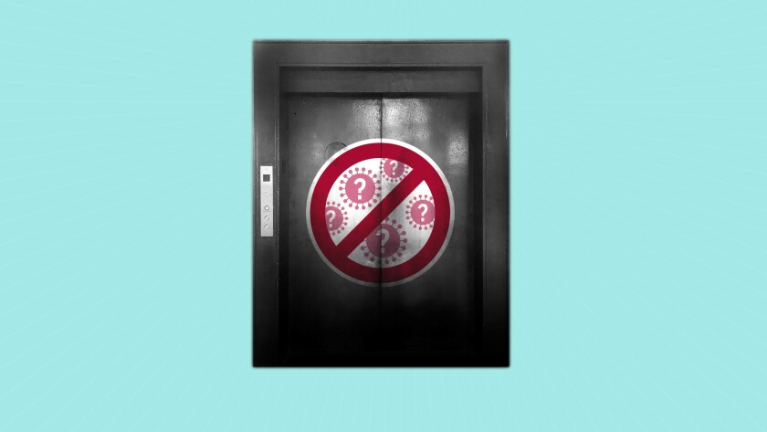 """Do """"self-cleaning"""" elevator buttons really work? AP Illustration/Peter Hamlin"""