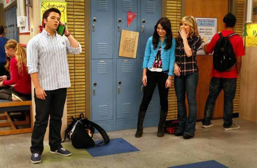 """Nathan Kress, Miranda Cosgrove and Jennette McCurdy in """"iCarly."""""""