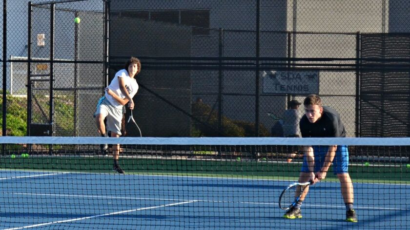 Players on the San Dieguito Academy tennis team participated in tryouts on Feb. 16, about a week before the beginning of the game's season.