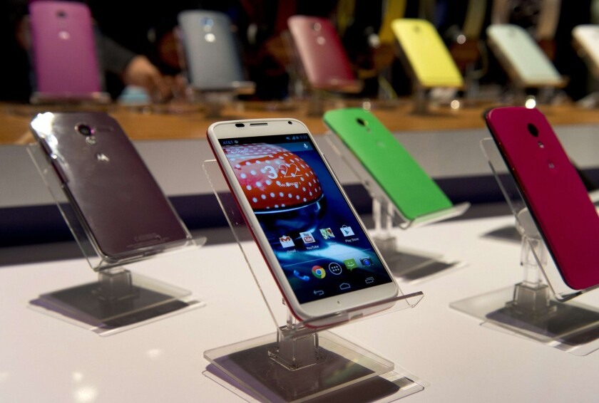 The Moto X is one of a few phones Motorola has released since being purchased by Google in 2011.