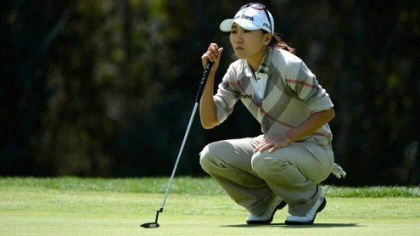 Rancho Santa Fe's LPGA golfer I.K. Kim at the 2013 Kia Classic. Courtesy photo