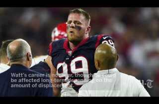 J.J. Watt will require surgery, season is over