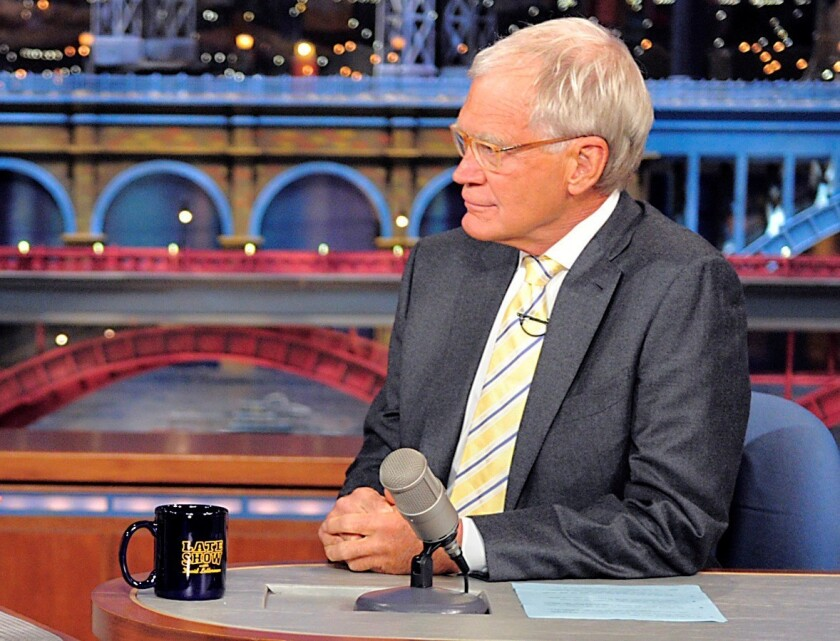 """David Letterman's production company, Worldwide Pants, and CBS face a class-action suit on behalf of former """"Late Show With David Letterman"""" interns."""