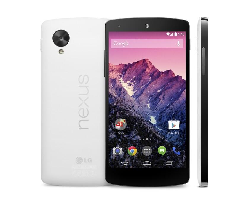 The Nexus 5, Google's latest smartphone.