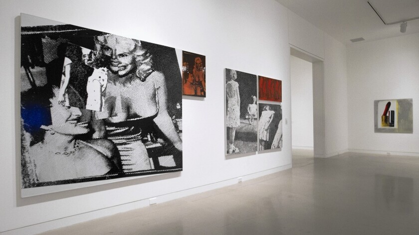 """""""Big Girls,"""" at Marilyn Minter's new exhibition, """"Pretty/Dirty"""" on display at the Orange County Museum of Art."""