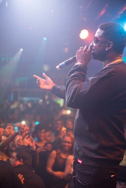 Gucci Mane performed live at FLUXX Nightclub on Friday, Dec. 23, 2016. (Arlene Ibarra)