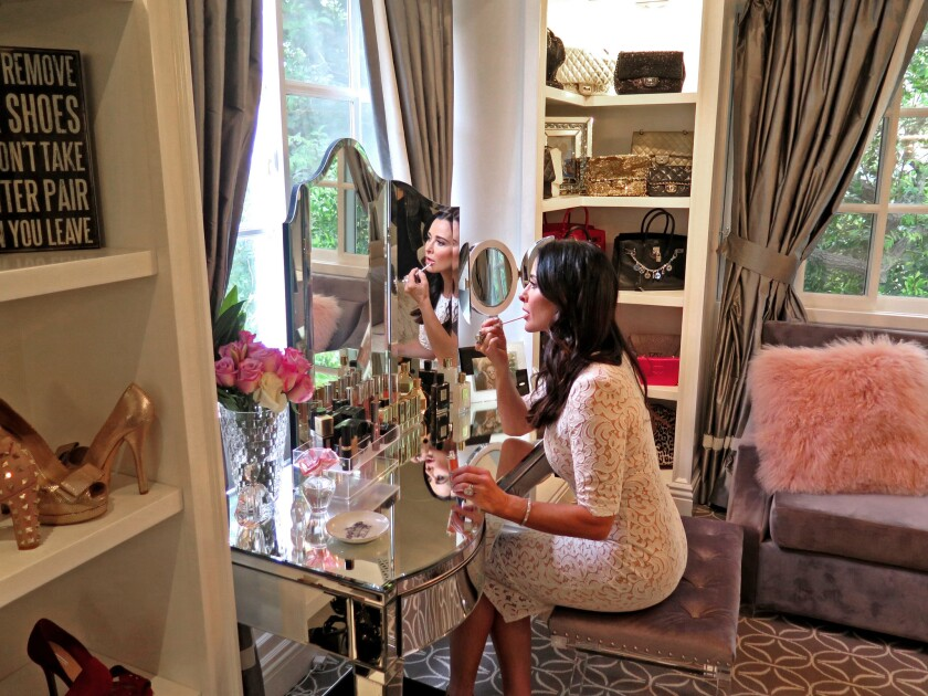 """""""The most difficult thing was finding the dressing-table bench. I wanted one with Lucite legs, and it took forever."""""""