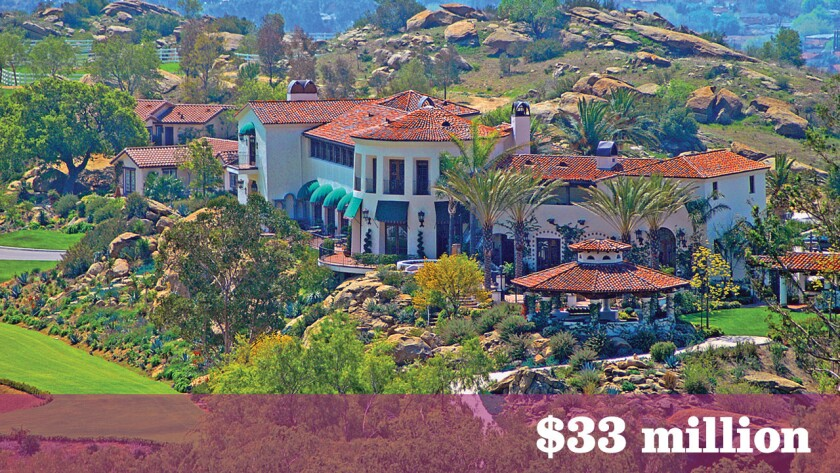 The 123-acre equestrian estate in Simi Valley known as Hummingbird Nest Ranch sold for $33 million.