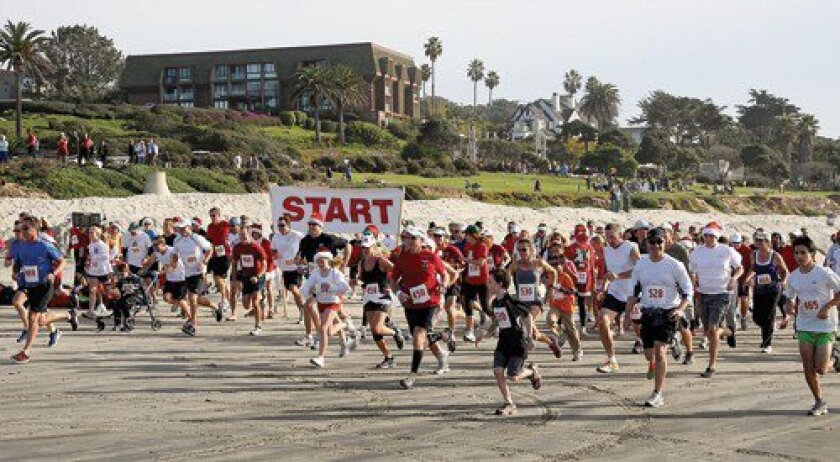 Del Mar's popular Red Nose Run will celebrate its 23rd year Dec. 19 on the beach behind the Poseidon Restaurant.