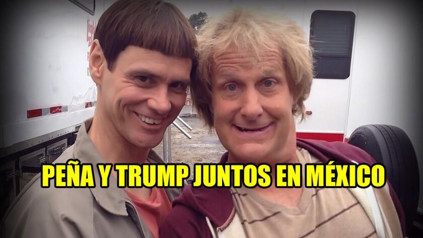 El candidato republicano y el primer mandatario mexicano se han convertido en el blanco perfecto de burlas a lo largo y ancho de Internet. He acá algunos de los mejores memes.