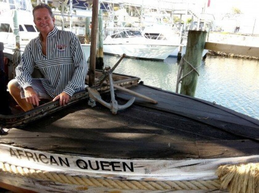 Lance Holmquist aboard The African Queen