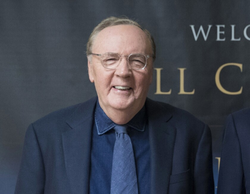 """FILE - Author James Patterson appears at an event to promote his joint novel with former President Bill Clinton, """"The President is Missing,"""" in New York on June 5, 2018. Patterson donated $1.5 million to Scholastic Book Clubs to launch """"The United States of Readers,"""" a classroom program designed to address literacy inequity. (AP Photo/Mary Altaffer, File)"""