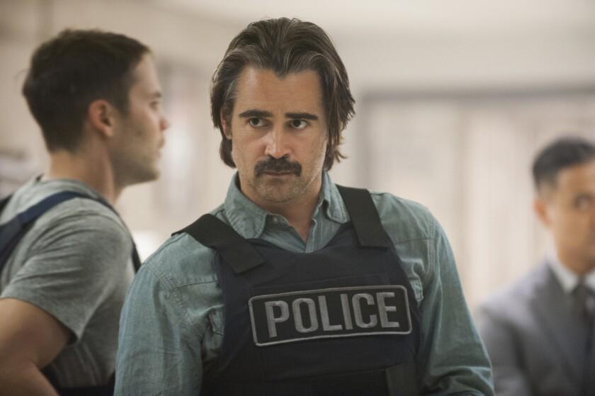 "Colin Farrell portrays Det. Ray Velcoro in the HBO series ""True Detective."""