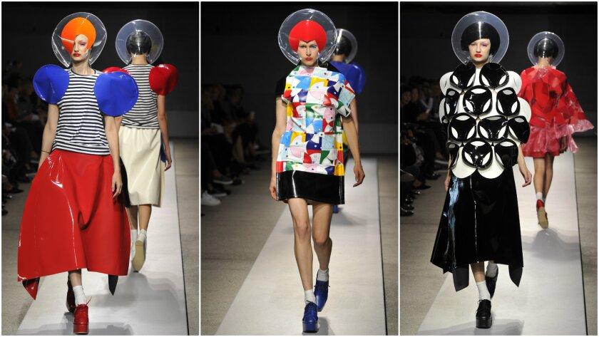 Looks from the Junya Watanabe show at Paris Fashion Week.