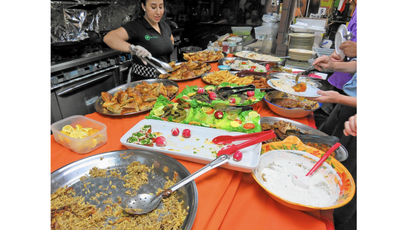 The iftar buffet at Olive Tree includes dishes, snacks and dips from across the Middle East.