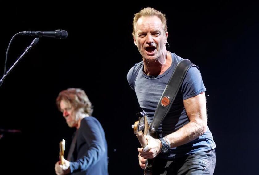 El músico británico Sting durante un concierto. EFE/EPA/Archivo
