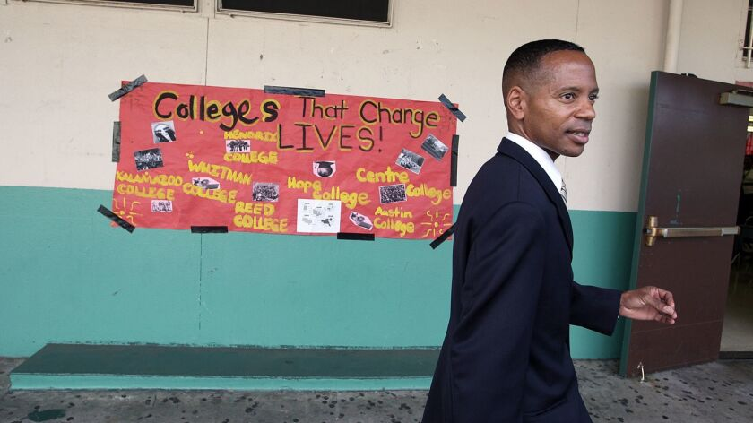 INGLEWOOD, CALIF. - OCTOBER 15, 2012: Kent Taylor, State Administrator-Superintendent for the Inglew