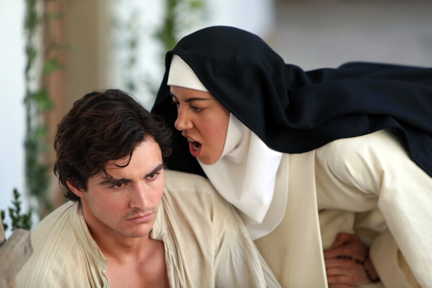 "Dave Franco and Aubrey Plaza in Jeff Baena's period comedy ""The Little Hours,"" an adaptation of Giovanni Boccaccio's ""The Decameron."" The film is premiering as part of the Midnight section at the 2017 Sundance Film Festival."