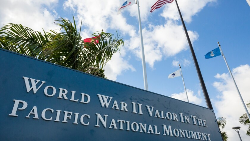 The World War II Valor in the Pacific National Monument is open daily from 7 a.m. to 5 p.m. There is no admission fee.