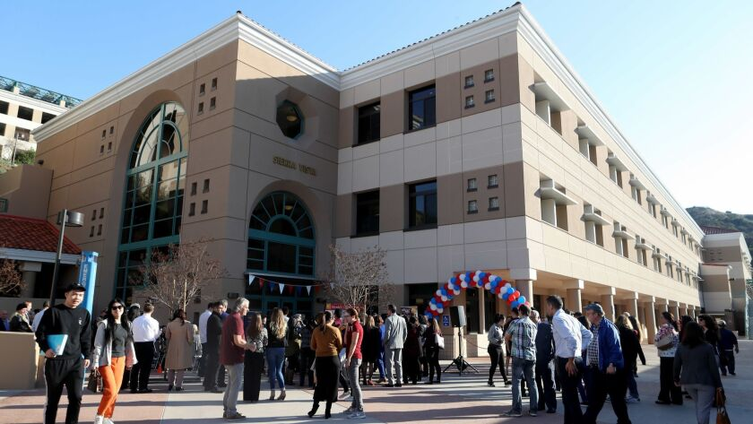 The new Sierra Vista building at Glendale Community College was officially opened during ceremony on