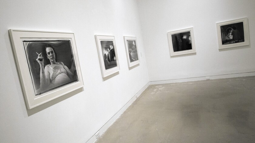 """A section titled """"Mirrors"""" at Marilyn Minter's new exhibition, """"Pretty/Dirty"""" on display at the Orange County Museum of Art."""