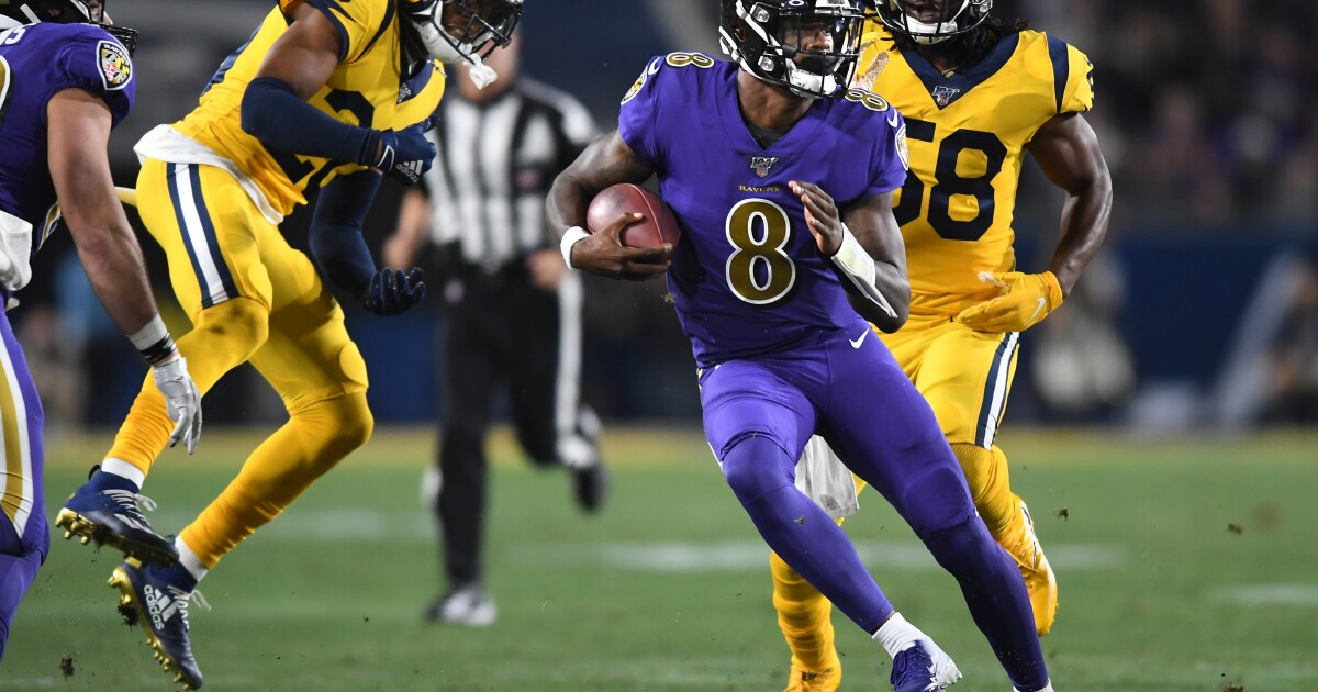 Rams' defense was so befuddled by Lamar Jackson, they couldn't even find the football