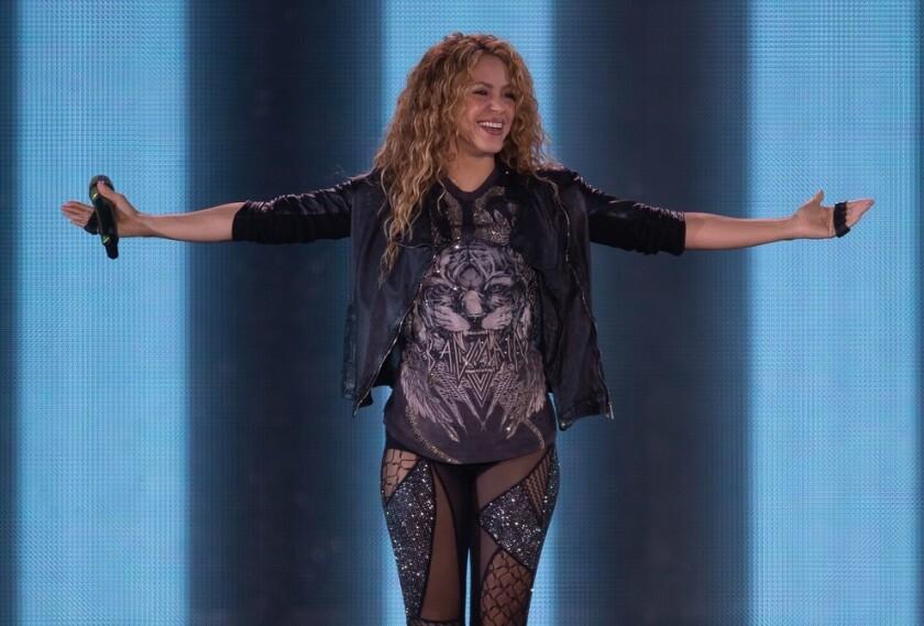 La cantante colombiana durante una de sus presentaciones.