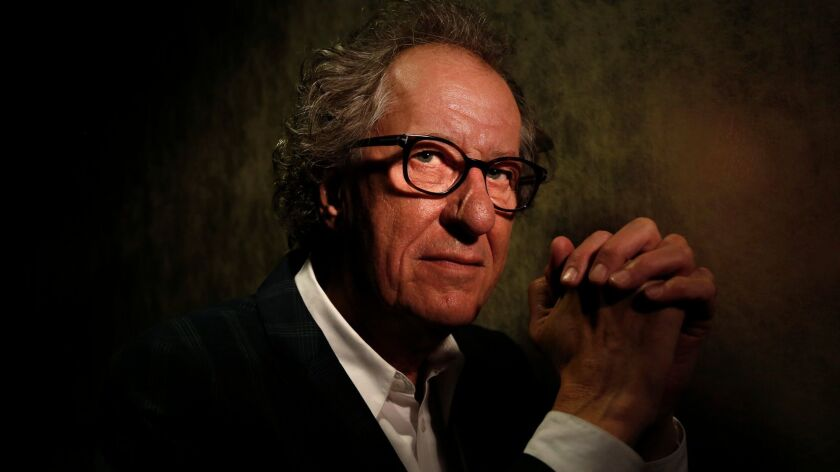 SHERMAN OAKS, CA - APRIL 25, 2017 -- Academy-Award winning actor Geoffrey Rush strikes a similar po