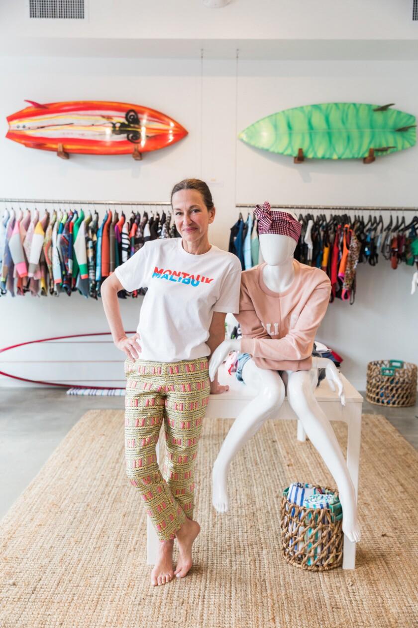 Cynthia Rowley in her Malibu pop-up.