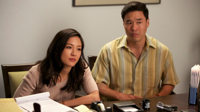 "Constance Wu and Randall Park in ""Fresh Off the Boat"" on ABC."