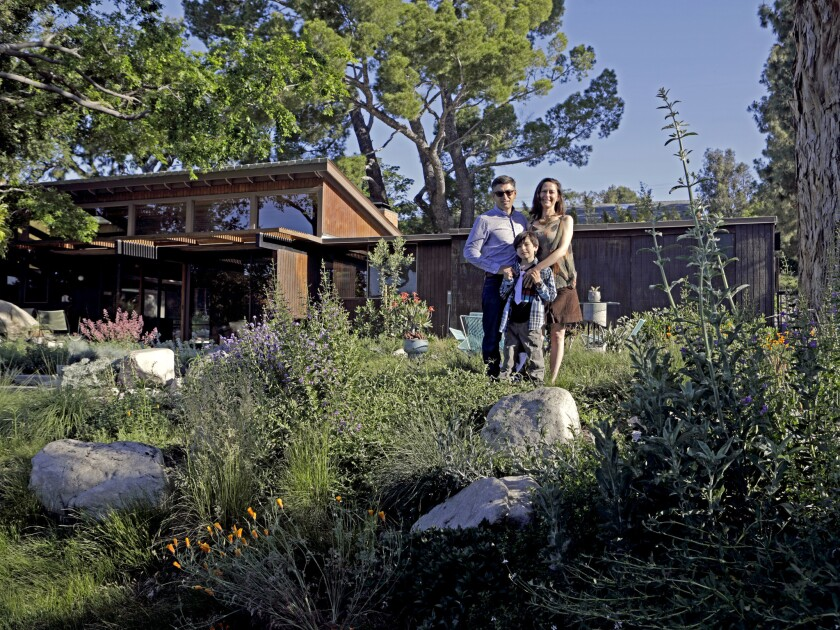 For 20 years, landscape designers Cassy and Kirk Aoyagi have proselytized the benefits of California native plants. Their personal garden in Tujunga is their most persuasive argument.