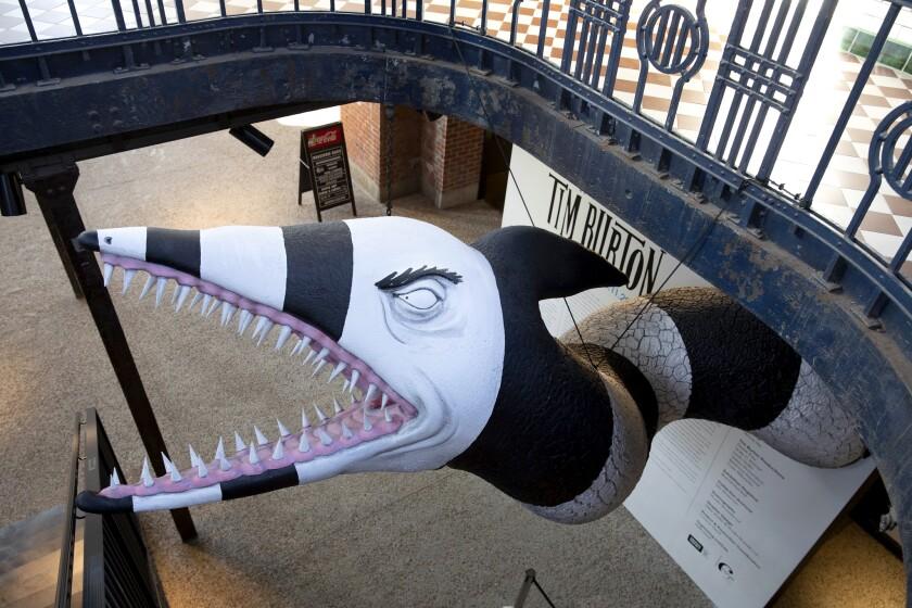 "Tim Burton creations for ""Tim Burton@the Neon Museum"" in Las Vegas"