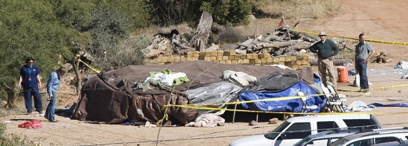 """Investigators looked over a sweat lodge near Sedona, Ariz. Three people died after an Oct. 8 """"Spiritual Warrior"""" ceremony at the lodge. A Texas woman has provided the first public description of the ceremony from a participant."""