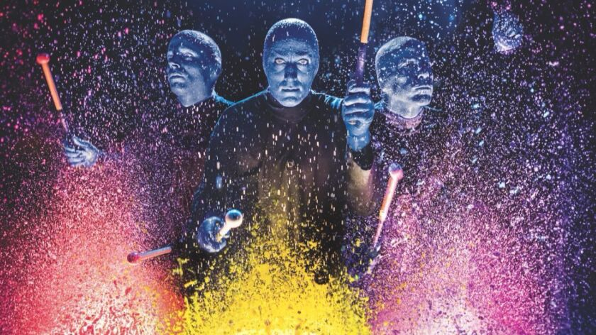 Blue Man Group comes to Segerstrom Center in Costa Mesa on Tuesday.