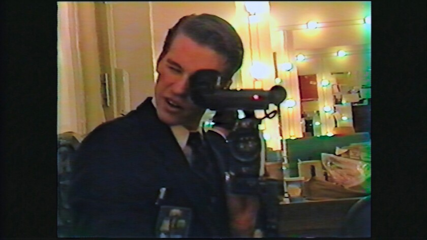 """This image provided by A24 shows Val Kilmer in a scene from """"Val,"""" a documentary about the actor. (A24 via AP)"""
