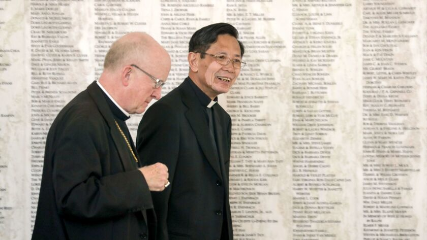 New bishop named to help minister to Orange County's